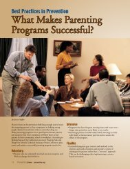 What Makes Parenting Programs Successful? - Prevention First
