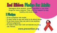 Red Ribbon Pledge for Adults