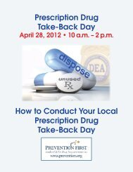 Prescription Drug Take-Back Day How to Conduct ... - Prevention First