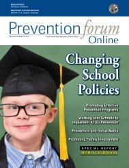 Spring 2010 - Prevention First