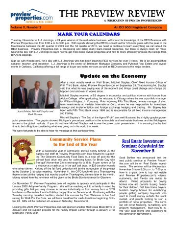 Newsletter Volume 11 No. 3 - Preview Properties