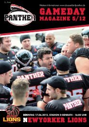 Der GSV, Partner und Sponsor der Panther, lädt alle Panther Fans ...