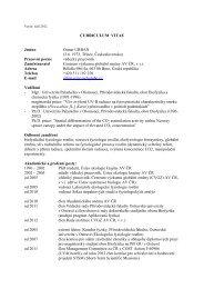Podklady pro habilitační řízení - Přírodovědecká fakulta - Univerzita ...