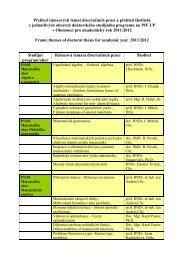 Rámcová témata doktorských disertačních prací pro akademický rok ...