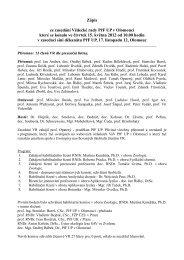 Zápis ze zasedání Vědecké rady PřF dne 15. května 2013