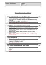 test z organické chemie – verze 1