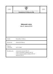 Rozhodnutí děkana 1/2012 - Přírodovědecká fakulta