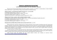 Zpráva o přijímacím řízení 2012
