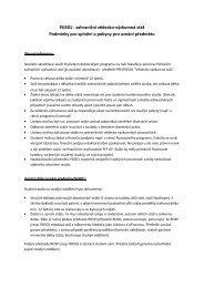 Podmínky pro splnění a pokyny pro uznání předmětu PRF/PGS01 ...