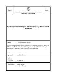 Upřesňující harmonogram a formu přípravy akreditačních materiálů
