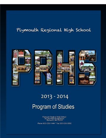Program of Studies - Plymouth Regional High School