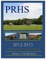 PRHS Handbook - Plymouth Regional High School - SAU 48