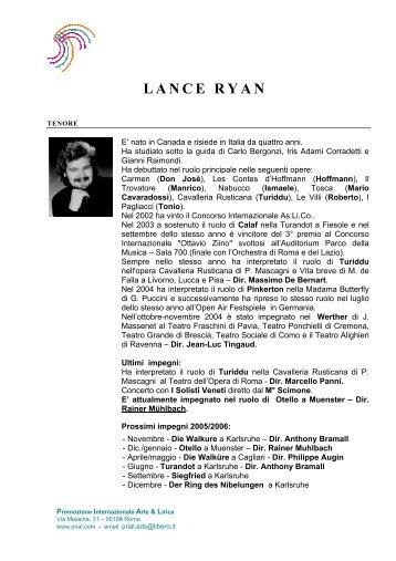 LANCE RYAN - Prial.com