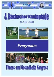 Programm - Priessnitz-Kneipp-Verein Bexbach
