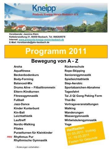 Prießnitz-Kneipp-Verein Bexbach e.V. Vorsitzende: Jasmina Klein ...