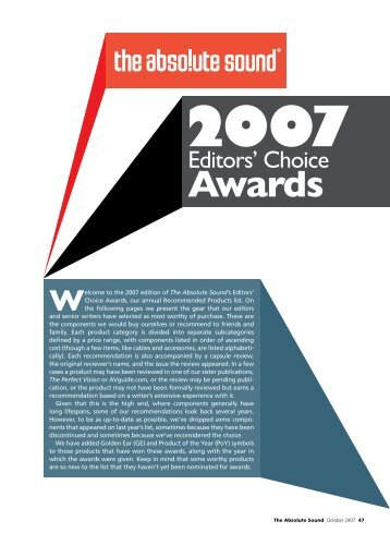 Editors' Choice Awards - Durob Audio