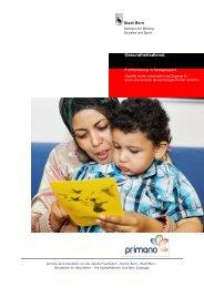 Schlussbericht Elternarbeit 2012 - Primano