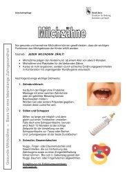 Mundhygiene Milchzähne - Primano