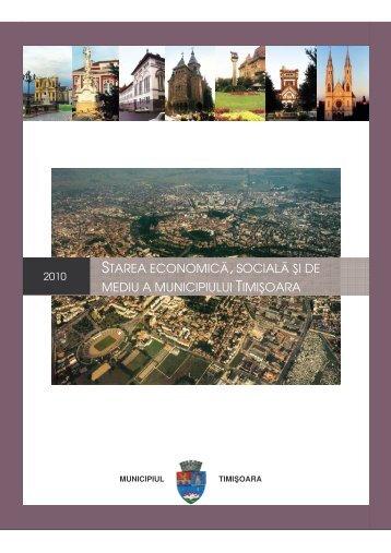 Starea economică, socială şi de mediu a municipiului Timişoara ...