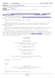 HOTĂRÂRE nr. 64 din 26 ianuarie 2011 pentru aprobarea ...