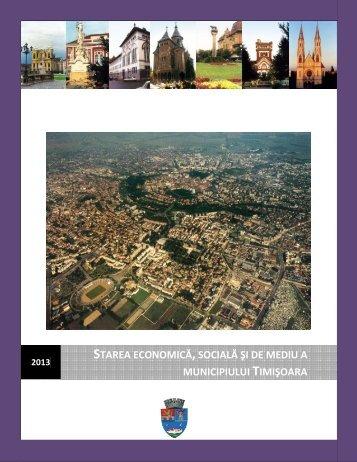 Starea economică, socială şi de mediu a Municicpiului Timişoara