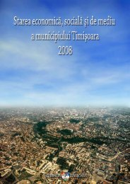 Starea economică, socială şi de mediu a municipiului Timişoara