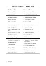 Dictation Sentences – 1 – 10 tricky words - Primarily Learning