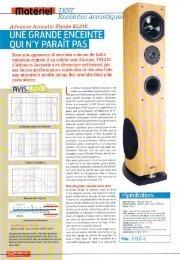 UNE GRANDE ENCEINTE - Advance Acoustic • Advance Acoustic