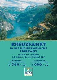 Kreuzfahrt in die südnorwegische Fjordwelt - Prima Urlaub
