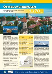 Ostsee-Metropolen - Prima Urlaub