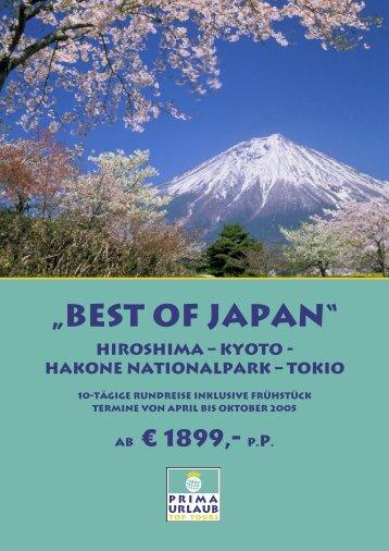 """Best of Japan"" Hiroshima – Kyoto - Hakone ... - Prima Urlaub"