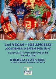 "LAS VEGAS – LOS ANGELES ""Goldener Westen der ... - Prima Urlaub"