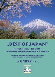 """Best of Japan"" Hiroshima – Kyoto - Hakone ... - Prima Urlaub"