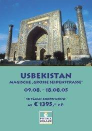 Usbekistan - Prima Urlaub