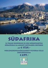 Südafrika - Prima Urlaub