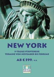 ab € 599,- p.P. - Prima Urlaub