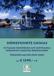 Höhepunkte Chinas ab € 1399,- p.p. - Prima Urlaub