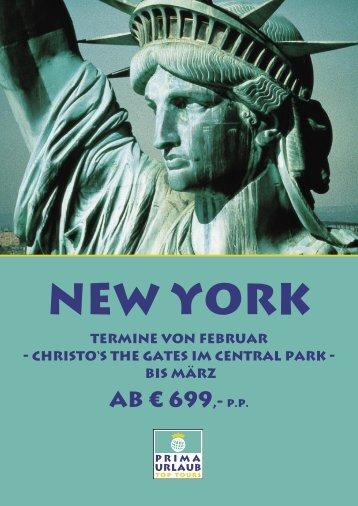 ab € 699,- p.P. - Prima Urlaub