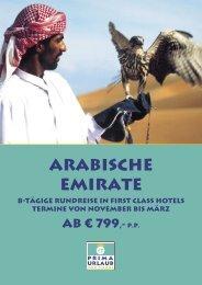 Arabische Emirate - Prima Urlaub