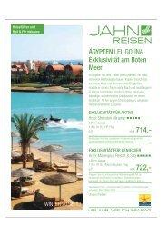 ÄGYPTEN | EL GOUNA Exklusivität am Roten Meer - Prima Urlaub
