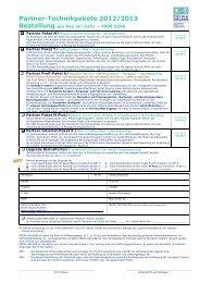 Technik-Bestellformular Partner 2013 inklBistroV2NEU - Prima Urlaub