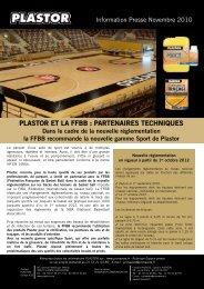 PLASTOR ET LA FFBB : PARTENAIRES TECHNIQUES - Primavera