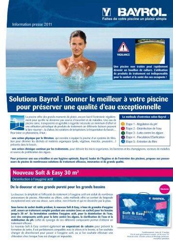 Solutions Bayrol : Donner le meilleur à votre piscine ... - Primavera