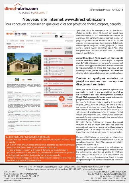 Nouveau Site Internet Wwwdirect Abriscom Primavera