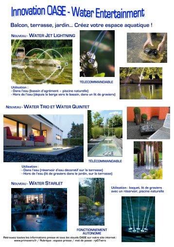 Balcon, terrasse, jardin... Créez votre espace aquatique ! - Primavera