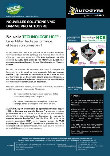 Nouvelle TECHNOLOGIE HCE® : - Primavera