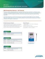 SNS Temperature Monitoring Sensors - AC powered - Primex Wireless