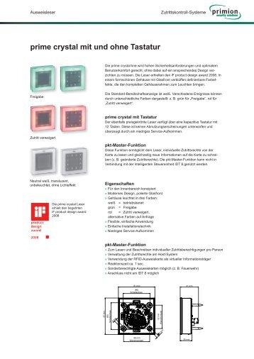 Ausweisleser prime crystal für Zutrittskontrollsysteme - primion ...