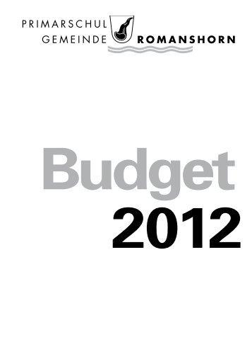 Budgetbotschaft 2012 - Primarschulgemeinde Romanshorn