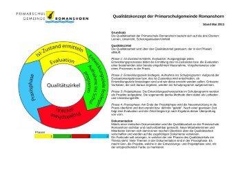 Schulprogramm - Primarschulgemeinde Romanshorn